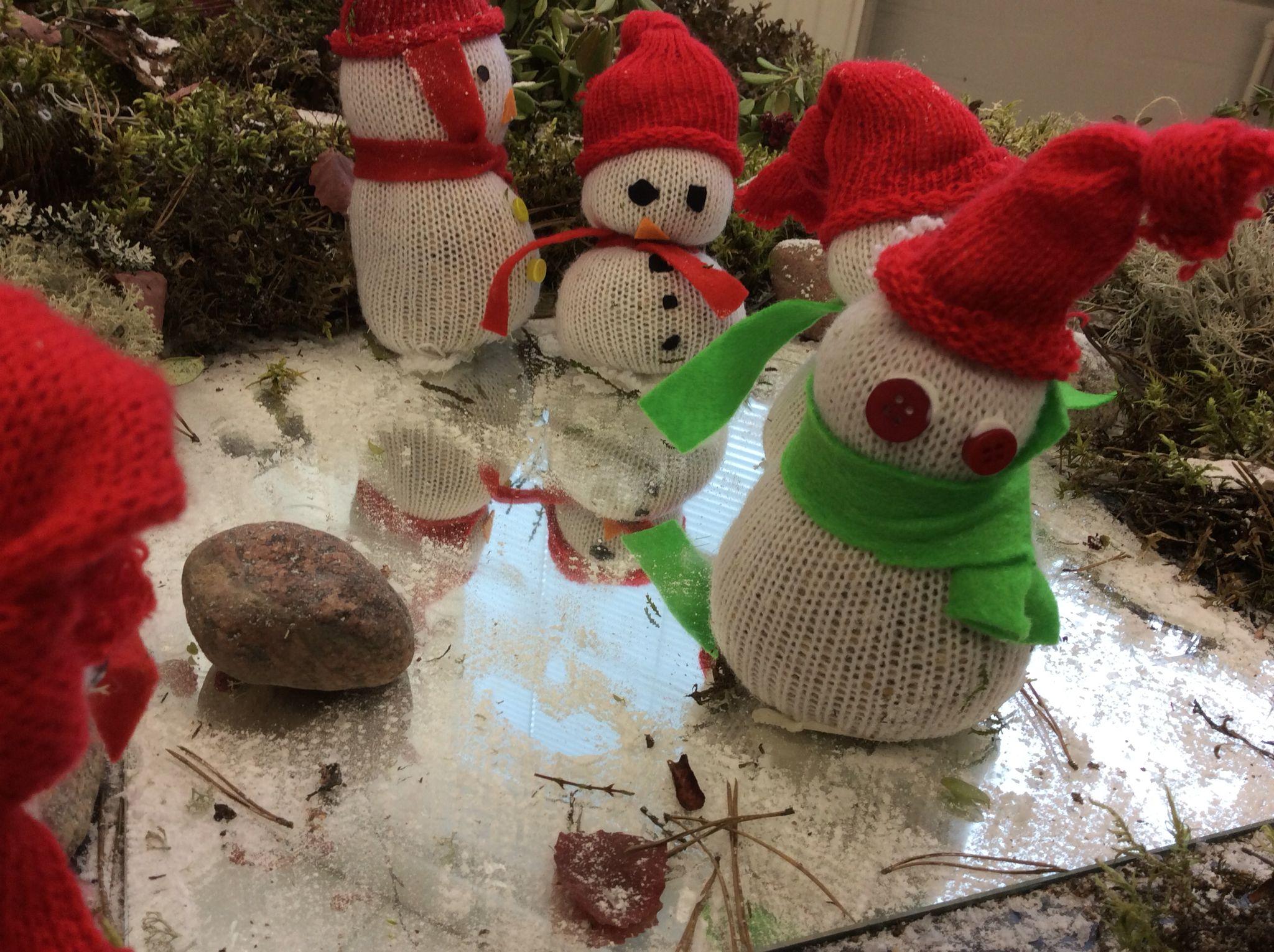 Lumiukot, lumiukot ketjussa kulkee...