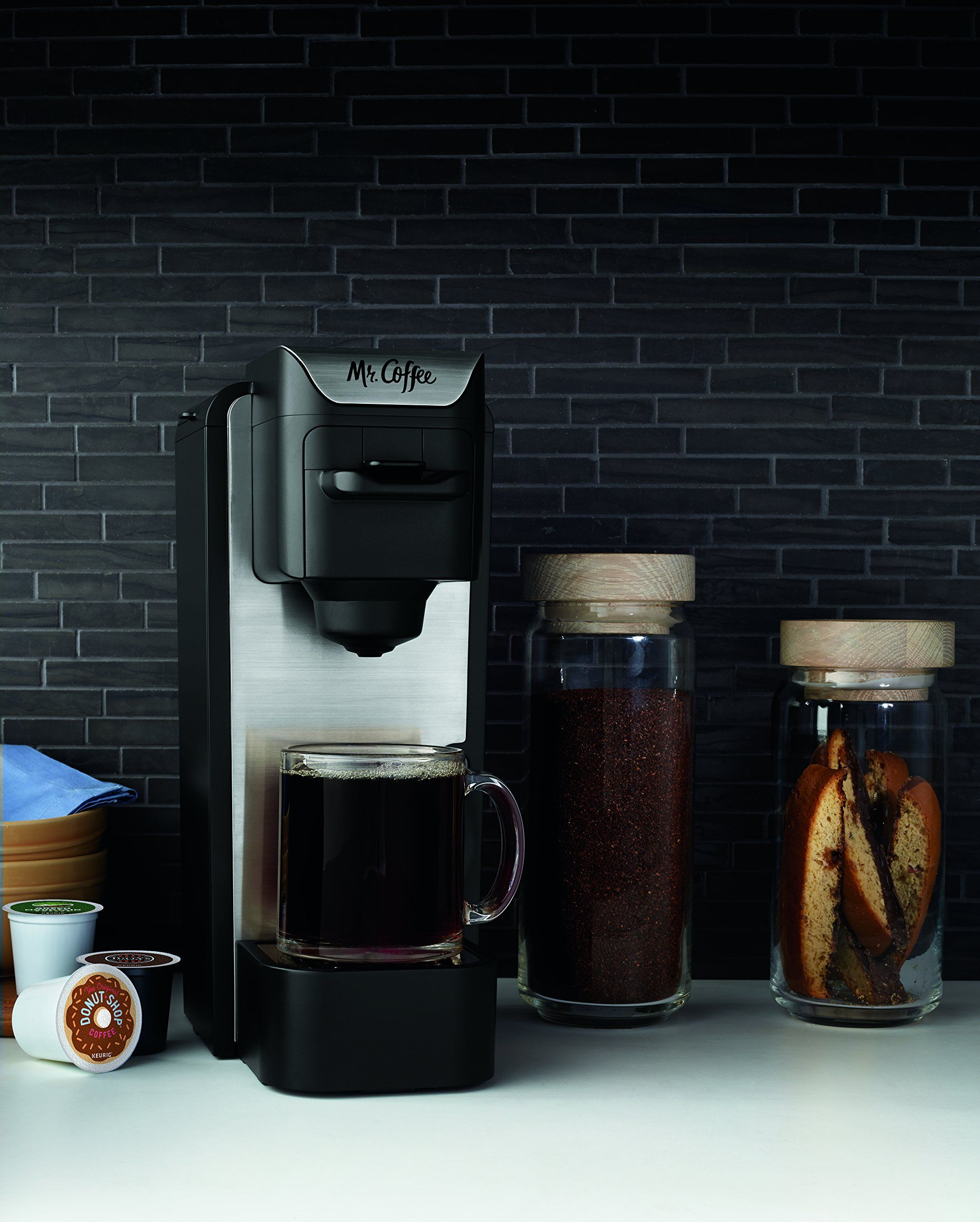Mr Coffee Bvmcsc1002 Singleserve Coffee Maker Black With Silver