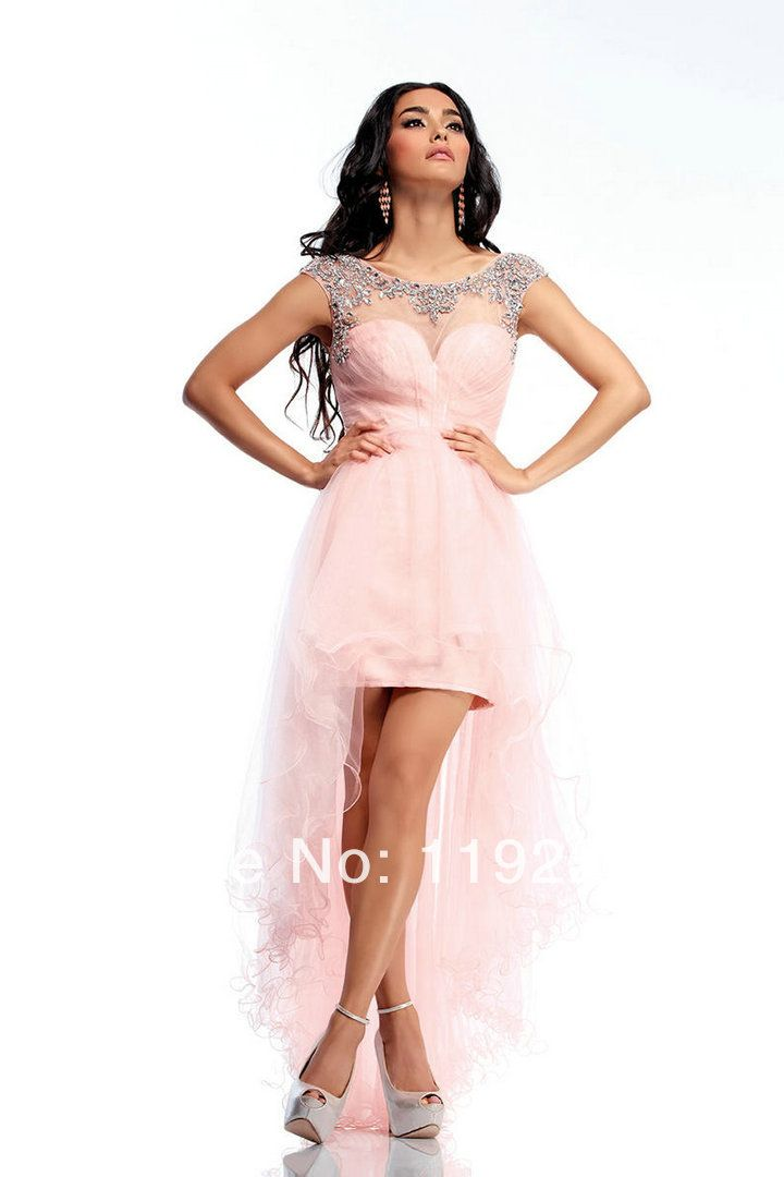 Hot selling new 2014 custom made sexy ball gown plus size pink tulle cheap party dress for party/wedding/homecoming/proms $95.00