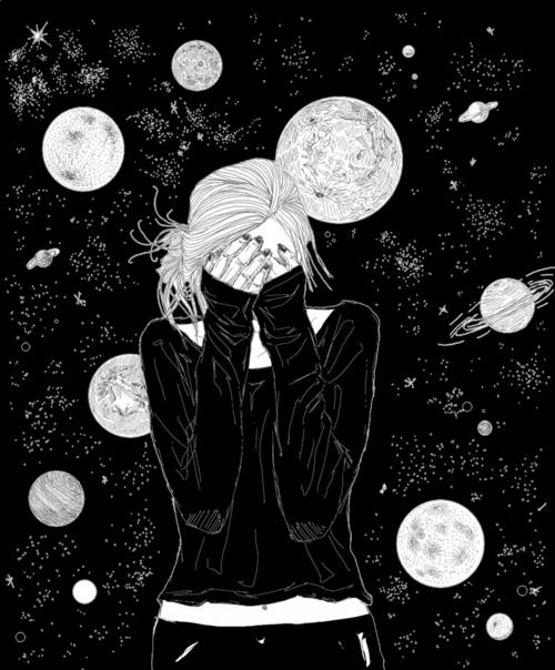 ella es mi universo | via Tumblr | Galaxy | Desenhos para ...