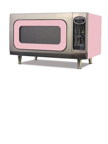 Pastel Pink Retro Microwave