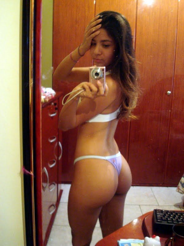 Sexy black lingerie model nude