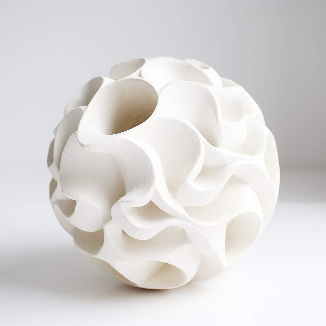 Halima Cassel - I absolutely love the structure on this....vase?