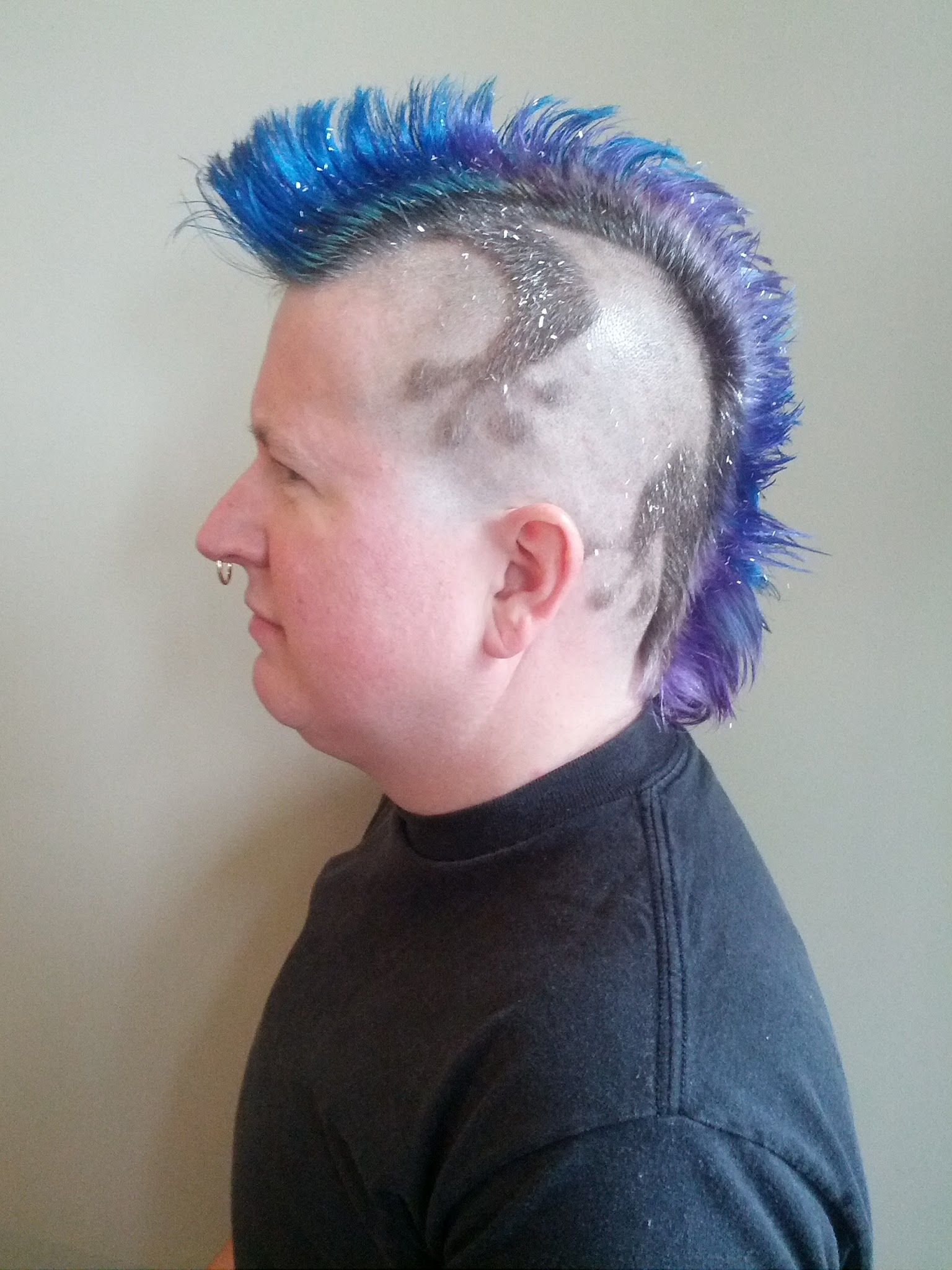 Sparkly mohawk with hairtattoo client archive pinterest mohawks