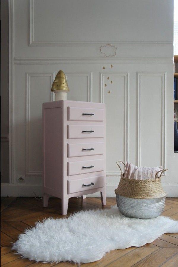 chiffonnier vintage rose sur www.petit-toit.fr | chambre bebe fille ...