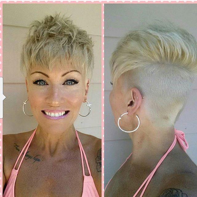 Faux Hawk Frisuren, asymmetrische Frisuren, brave Pixie Frisuren oder Frisuren mit perfekten ...