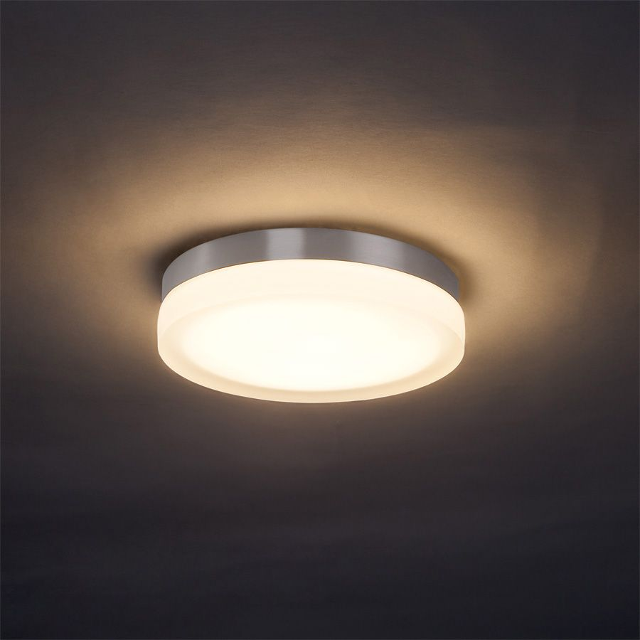 closet lighting fixtures. Buy The WAC Lighting Brushed Nickel Direct. Shop For Slice LED Single-Light Round Flush Mount Ceiling Fixture With Thick Closet Fixtures