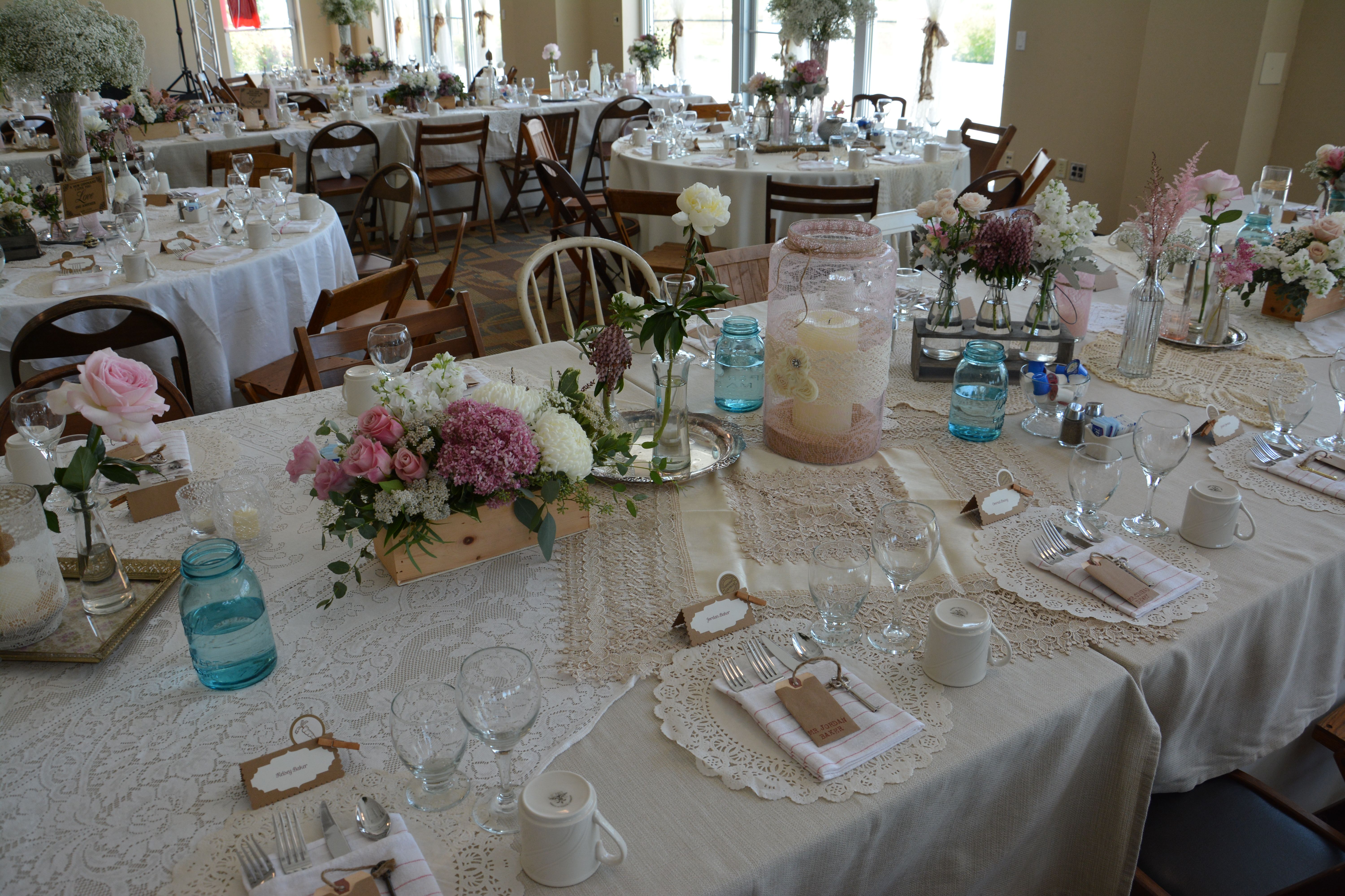 Table Decorations #wedding decorations done by Events by Design