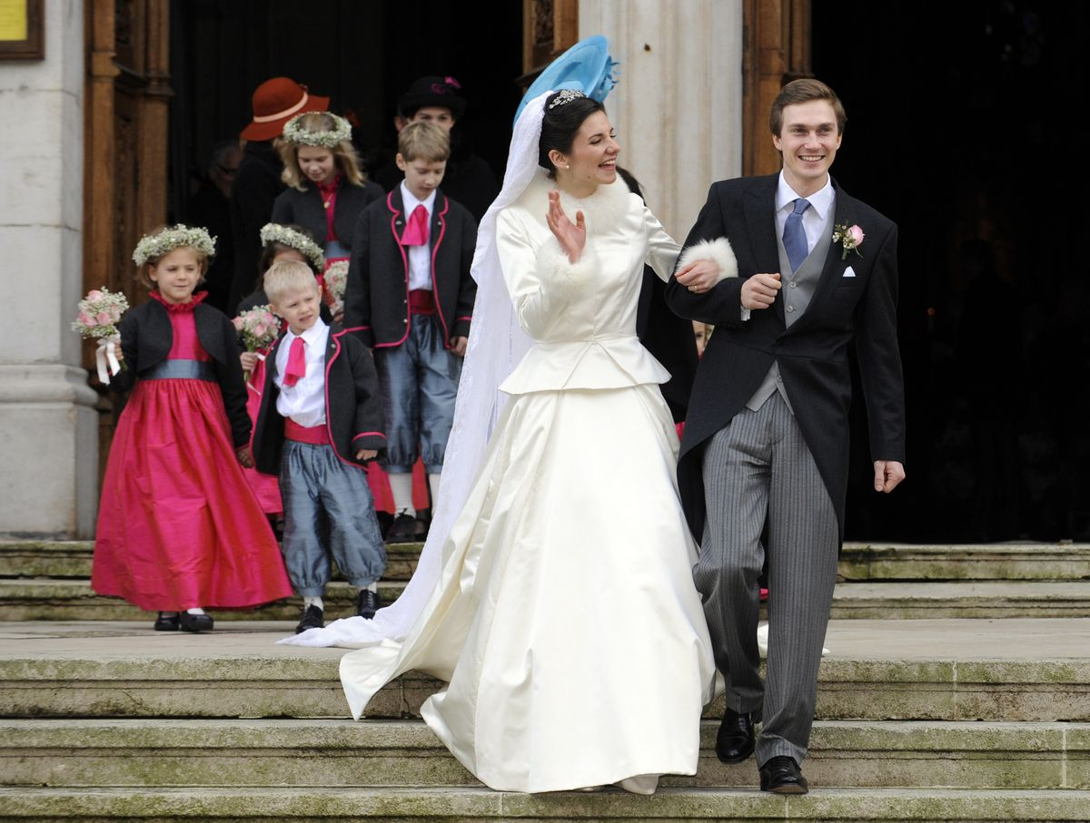 Wedding S Christoph Is The Son Of Archduke Karl Christian Of Habsbourg Lorraine And Princess Marie Astrid Of Luxembou Royal Brides Royal Weddings Royal Wedding [ 907 x 1200 Pixel ]