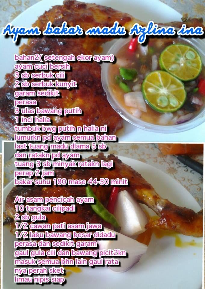Ayam Bakar Madu Food Processor Recipes Cooking Recipes Recipes