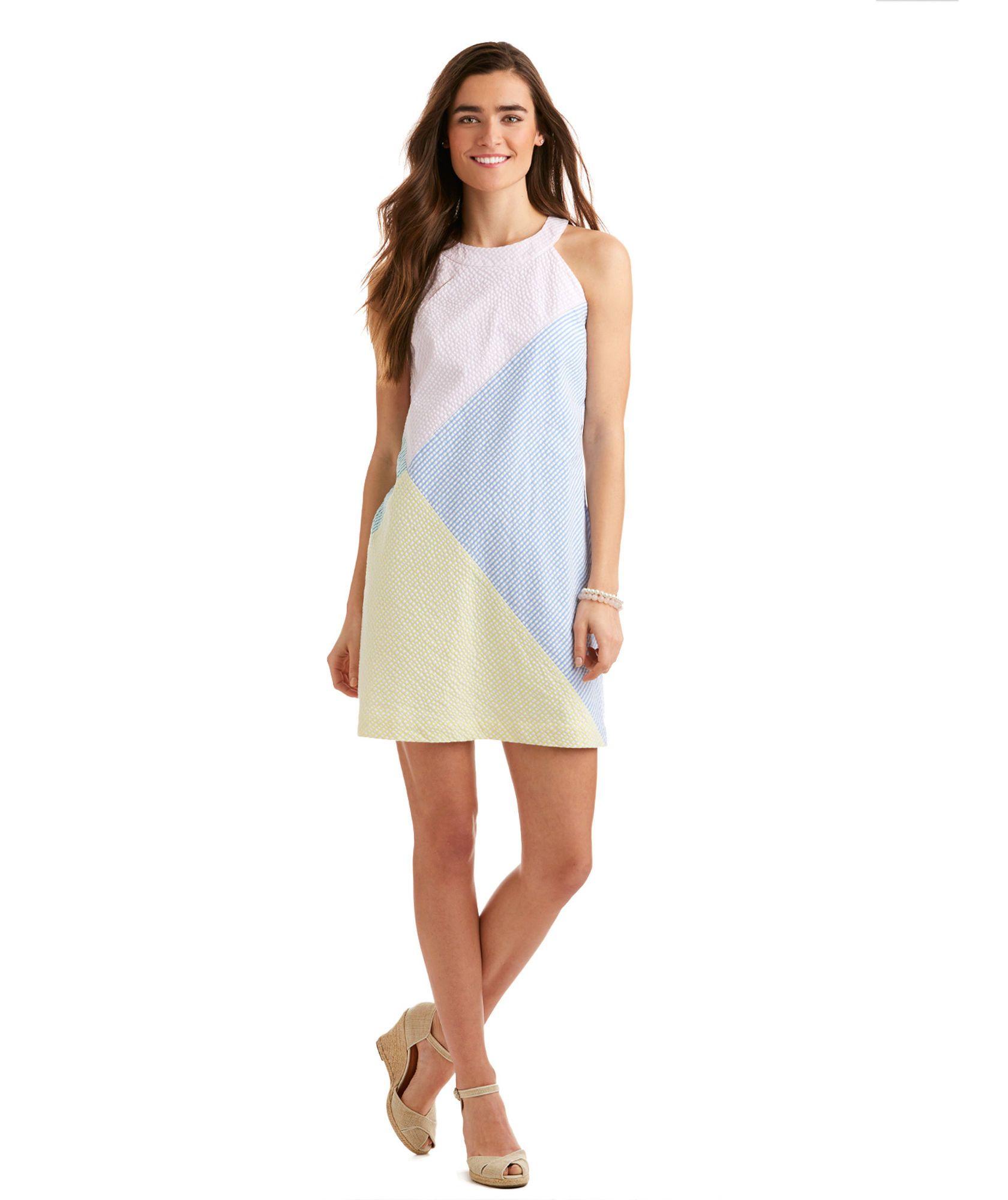 Seersucker Stripe Blocked Dress   Vineyard Vines   Fashion Drops ...