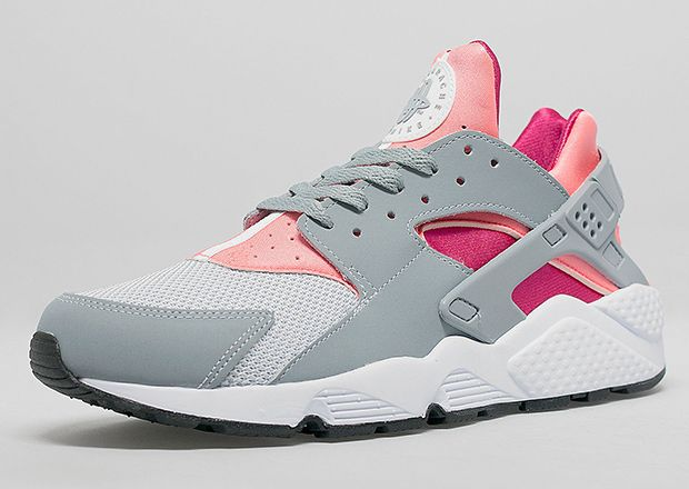 Nike Women S Air Huarache Light Magnet Grey Bright Mango
