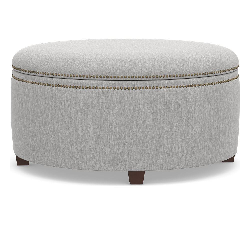 Tamsen Round Storage Ottoman Round Storage Ottoman Upholstered