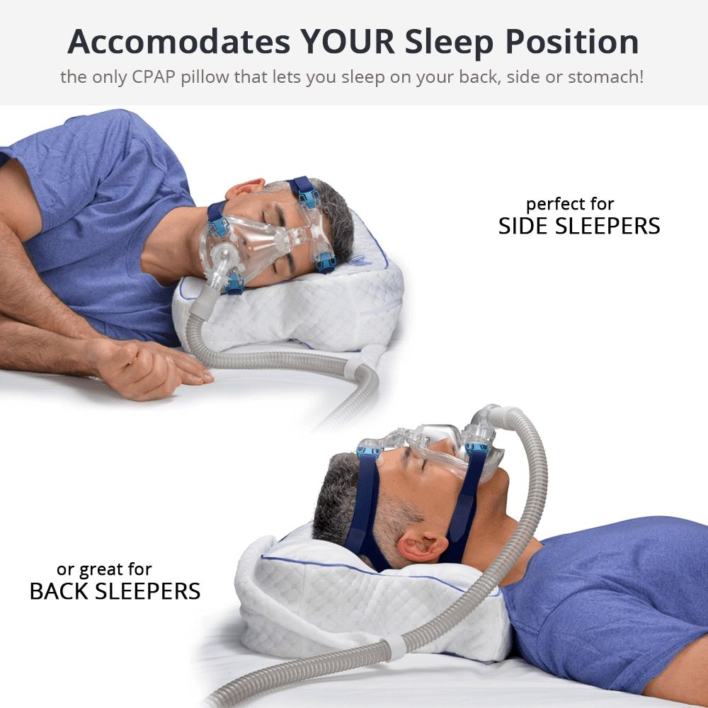 Cpap Pillow For Sleep Apnea And Improved Cpap Therapy Sleep Apnea What Causes Sleep Apnea Cpap