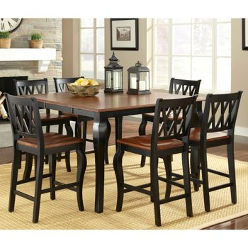 Roslyn 7 Piece Square Counter Height Dining Set Dining Room Sets