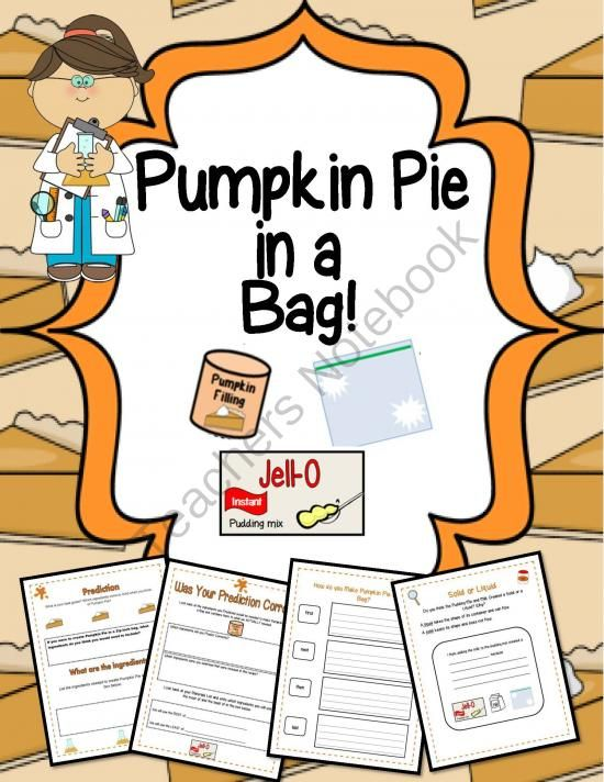 Pumpkin Pie in a Bag!Science, Literacy & Craftivity from Engaging Lessons on TeachersNotebook.com -  (19 pages)