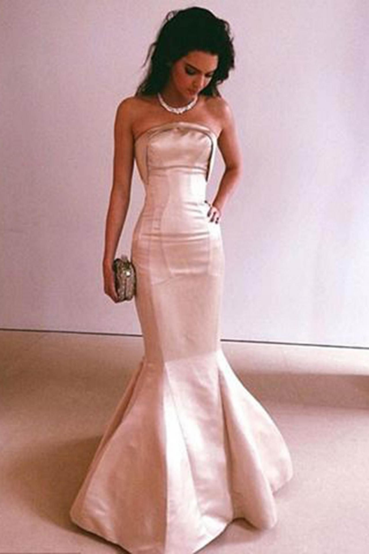 Champagne satin prom dress, ball gown, sweetheart dress for prom ...