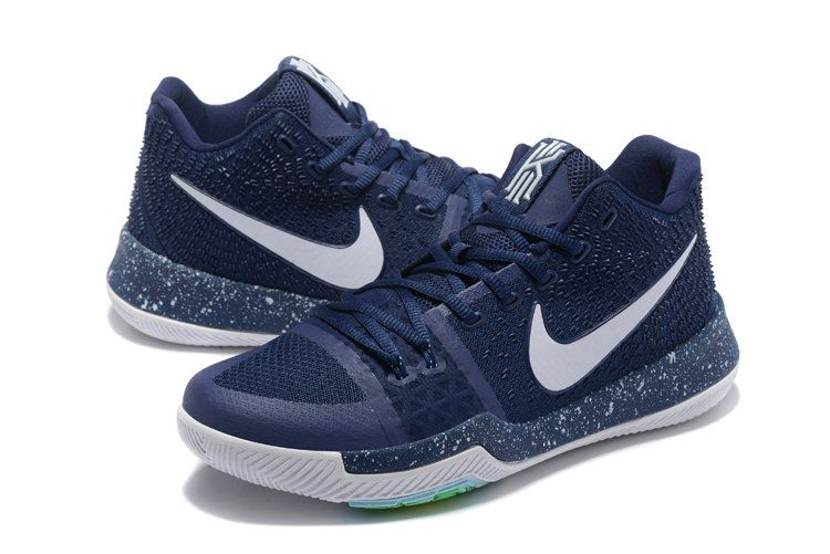 New Arrival Game Royal White Navy Blue Kyrie 3 III Mens Basketball Shoes  2018 Sale