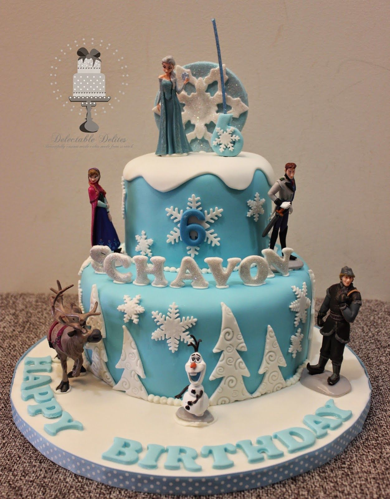 Frozen Cake Topper 6 FigurineDoll Set Elsa Anna Hans Olaf Sven