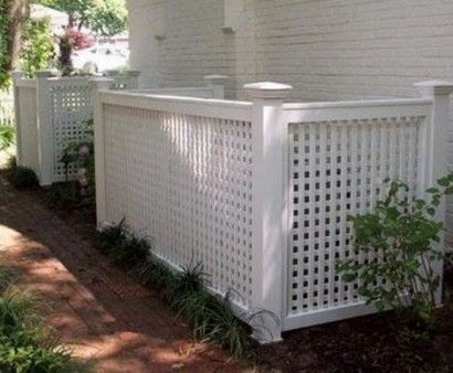 Keep The Trash Bins Backyard, Lattice Around Air Conditioner