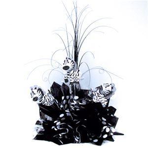 Zebraology Centerpiece - Zebra Themed Table Decoration