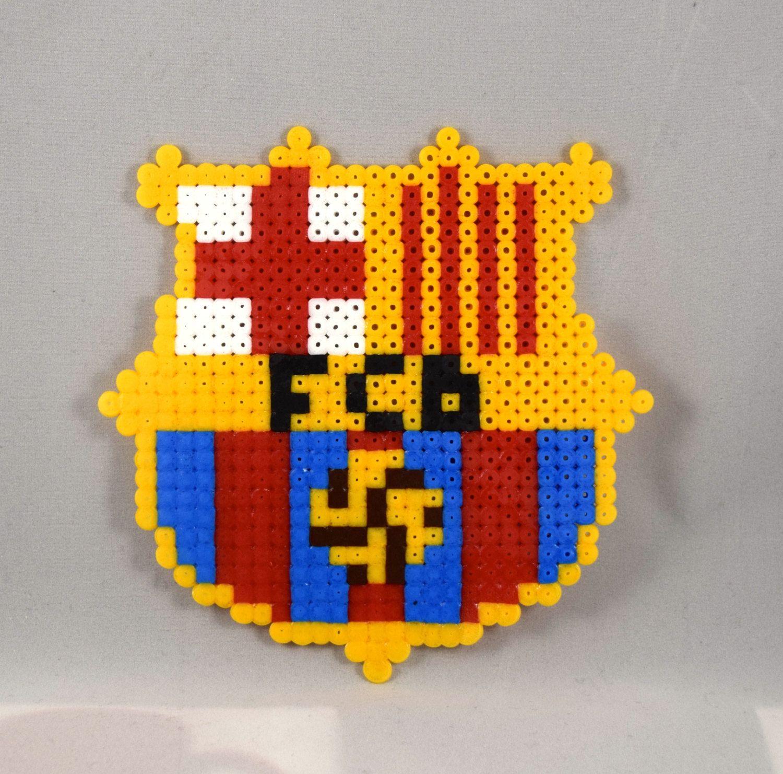 FC Barcelona 2016 Messi Sign Logo Hama Perler Pyssla Beads