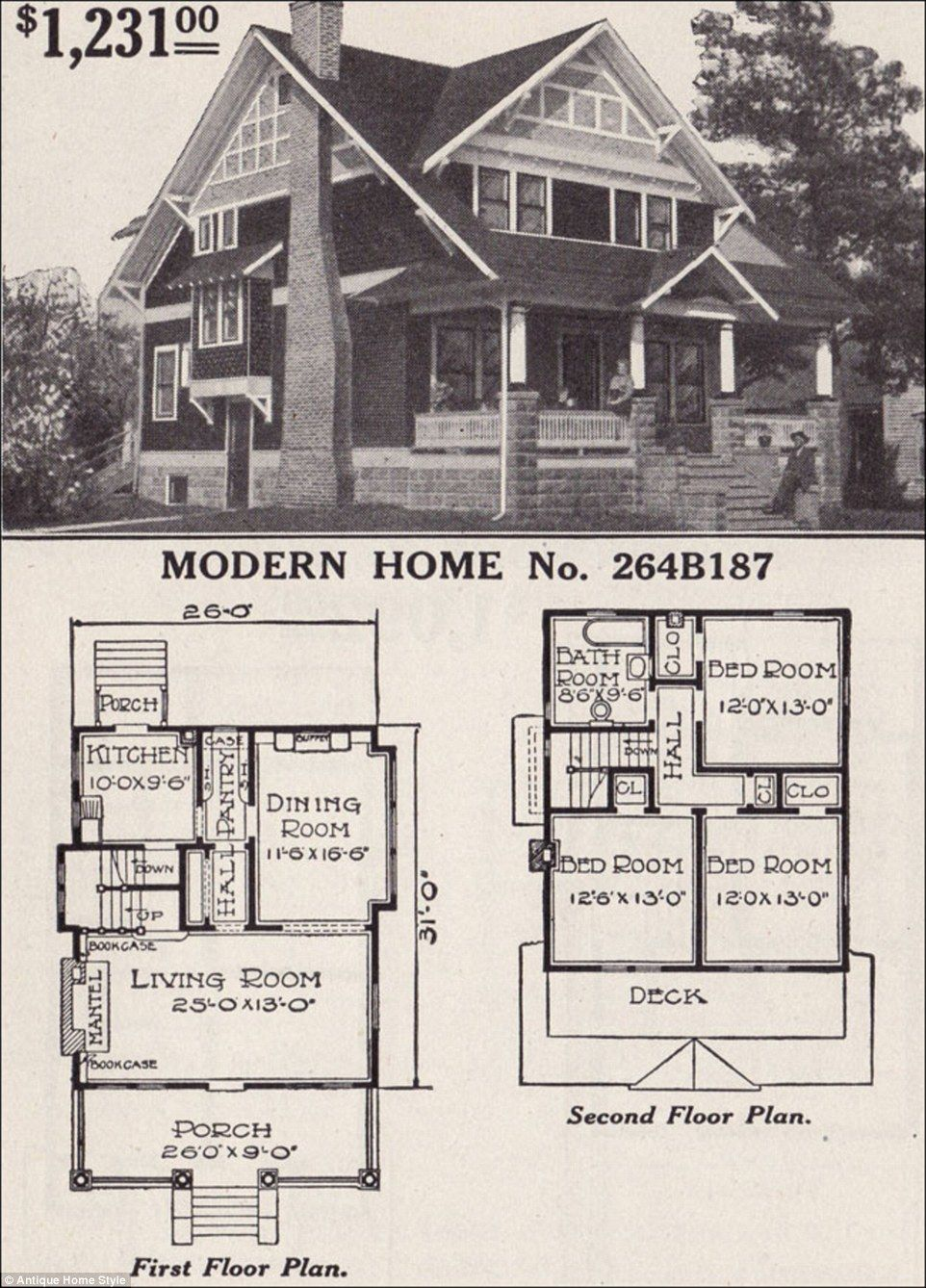 Man Restores His Grandparents 1916 Flat Pack Home From Sears Craftsman Style House Plans House Plans One Story Small House Plans