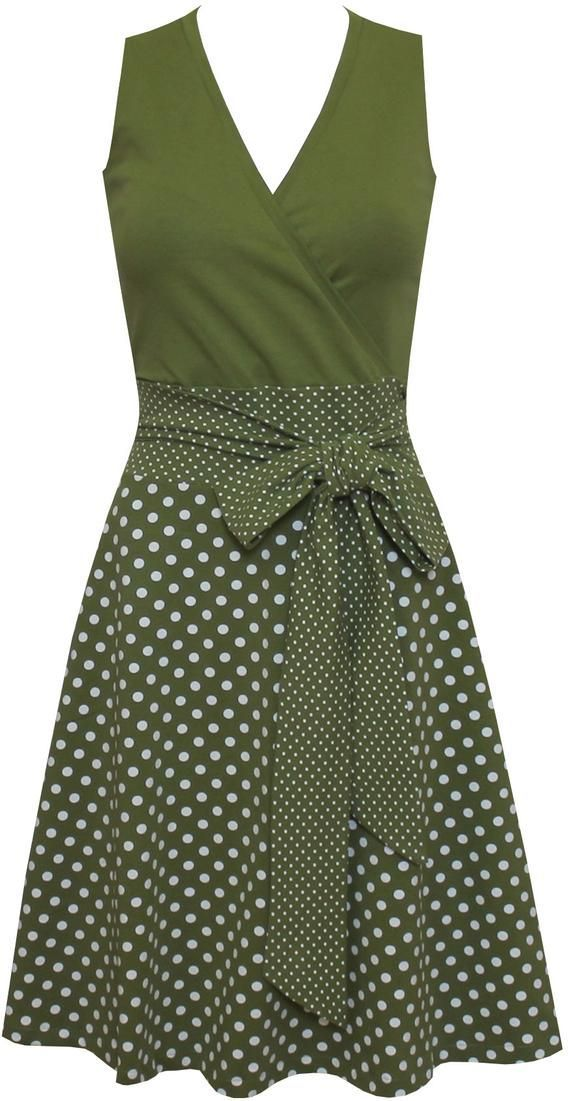Kleid Sophie Dots allover in vielen Farben – CLAUDIA MARTINEZ – #allover #CLAUDIA …