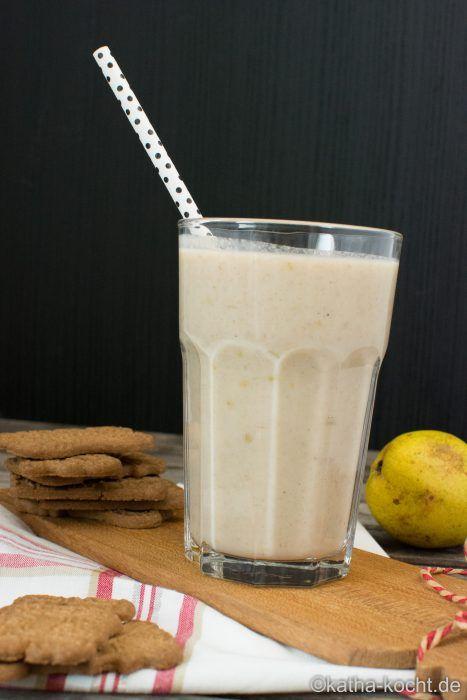 Buttermilch Drink mit Birne und Spekulatius - katha-kocht!