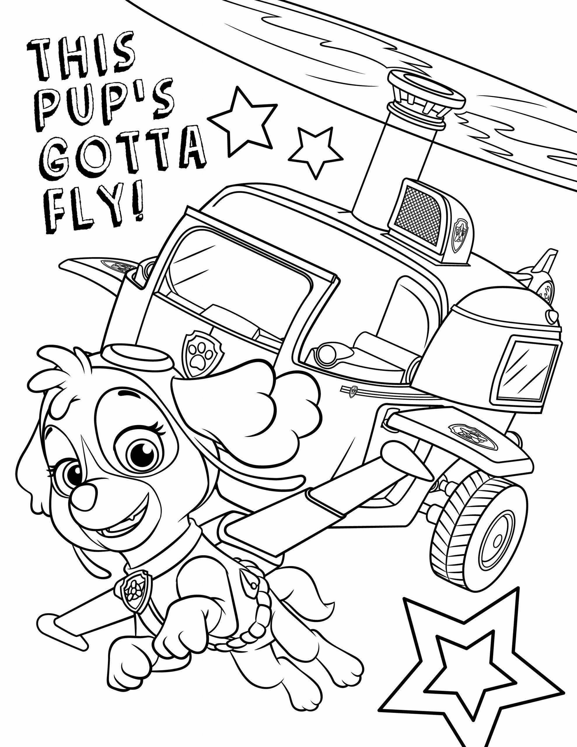 Paw Patrol Skye Coloring Page Fresh Free Paw Patrol Coloring Pages Paw Patrol Coloring Pages Paw Patrol Coloring Birthday Coloring Pages