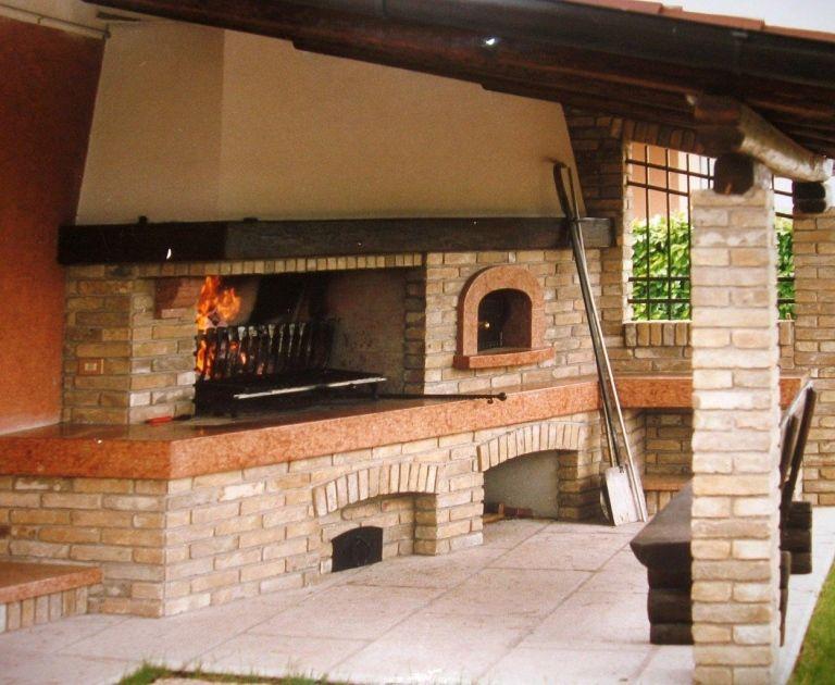 Camino con forno a legna rustico cerca con google - Caminetto per esterno ...