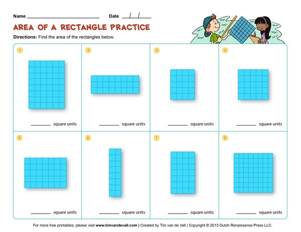 Area and Perimeter Worksheets for Kids | Math Printables | Pinterest ...