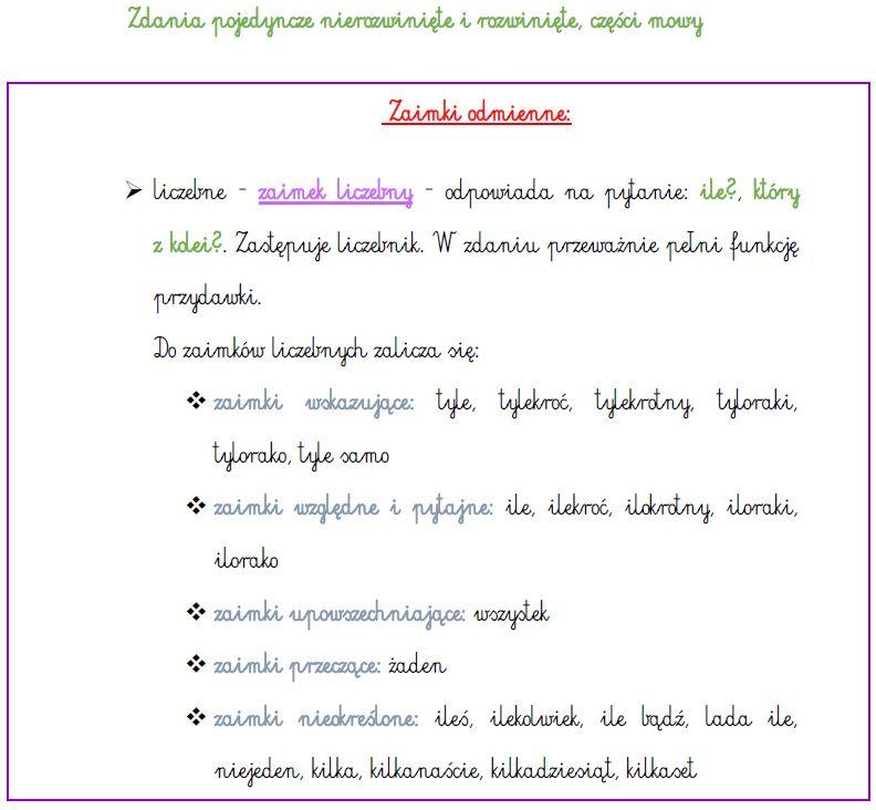 użyj zdania względnego w zdaniu