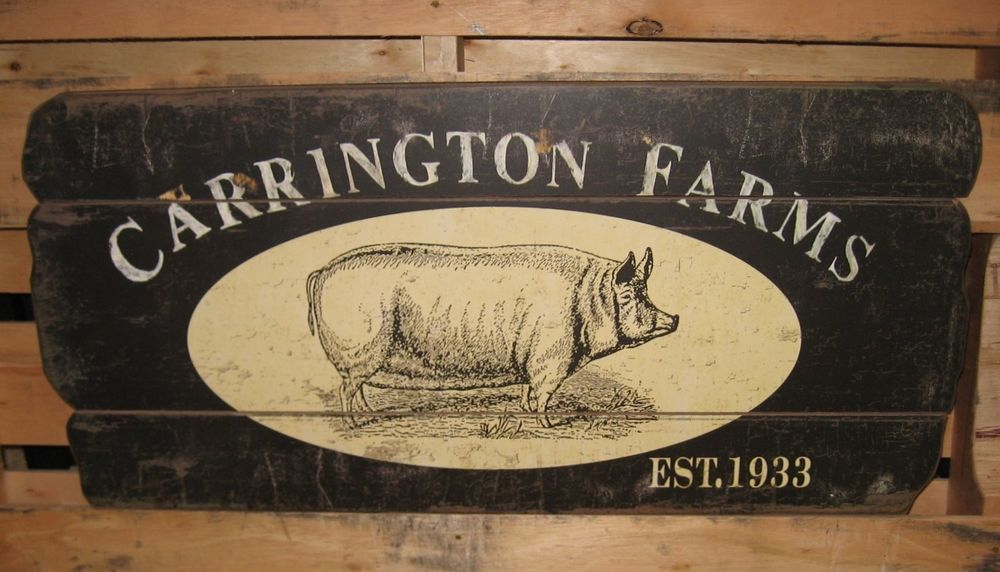 BiG Wood PIG Carrington Farm Sign*Primitive French Country ...