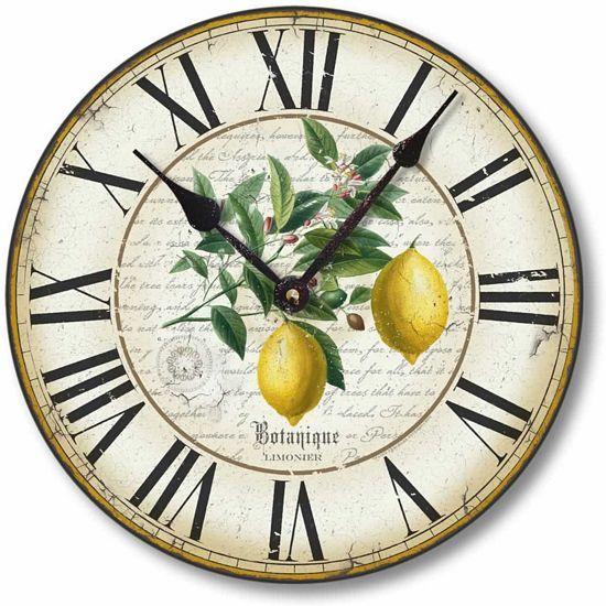 Item C8201 Antique Lemon Clock Lemon Kitchen Decor
