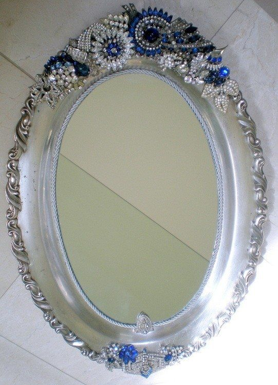 Jeweled Mirror Hand Made Jeweled Antique Mirrors By Arc