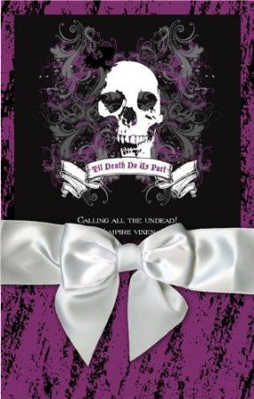 Halloween wedding invitations purple and black gothic wedding