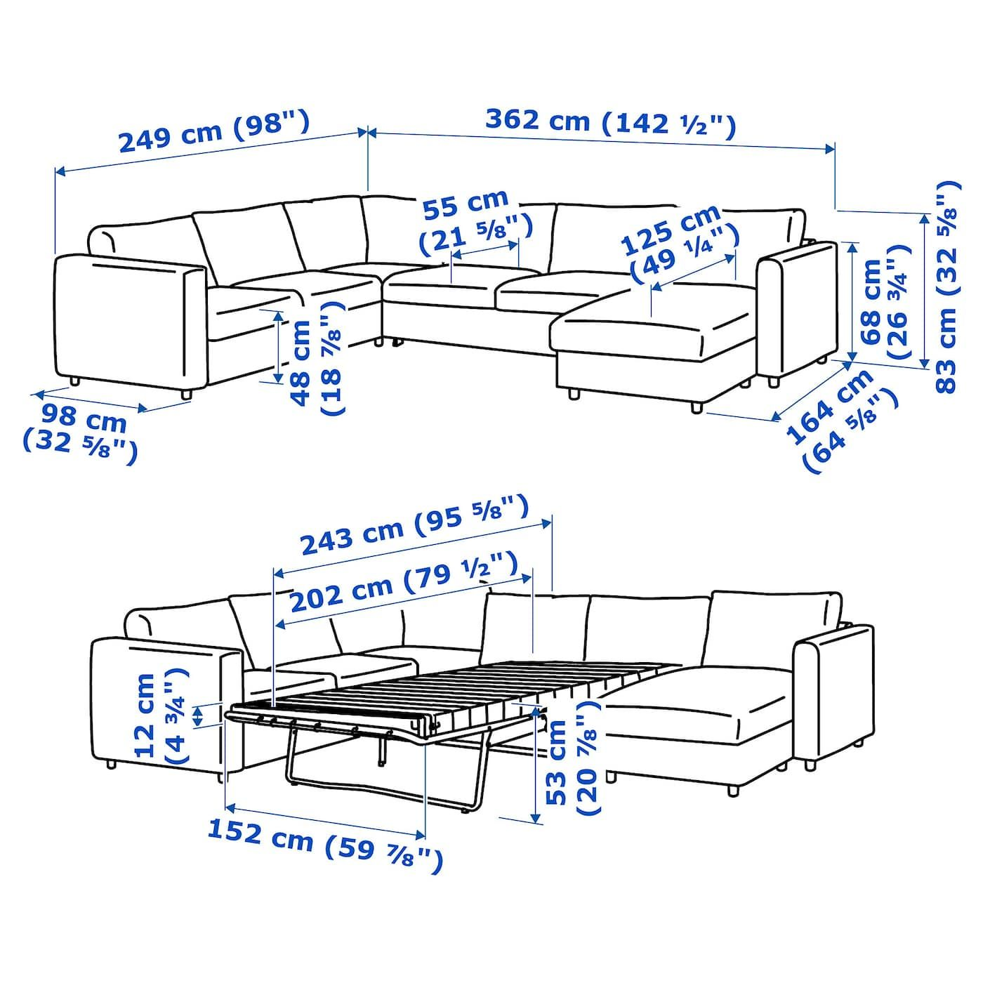 Vimle Corner Sofabed W Chaise With Chaise Farsta Dark Brown Sofa Bed Sofa Bed Frame Sofa Back Cushions