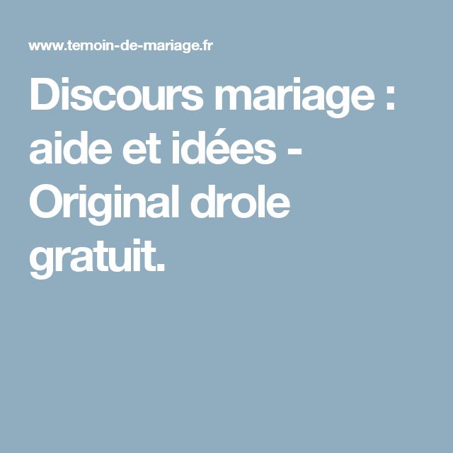 Discours Mariage Aide Et Idées Original Drole Gratuit