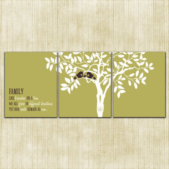 Wall Art Custom Love Birds Sage Green and by InvitingMoments ...