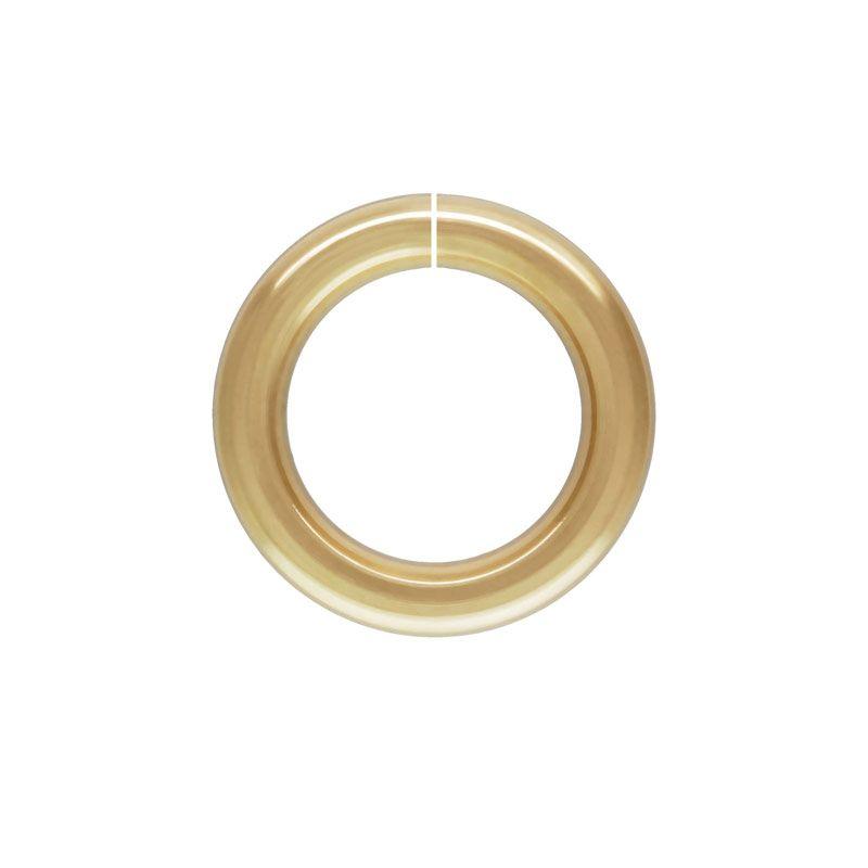 Open round twist lock jump ring 10mm gold filled 1pc