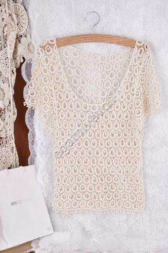 Retro Crochet Fashion Hippie Bohemian Beige Women Lace Sexy Tee Top Style Dress | eBay