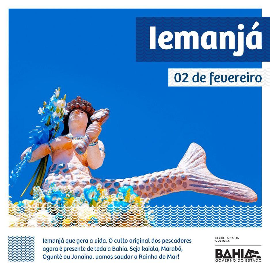 #DiadeIemanjá Hoje é dia de festa no mar!