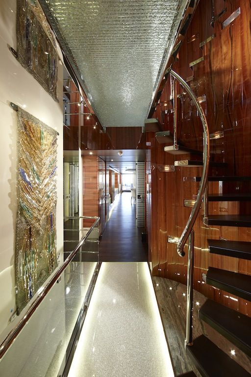 Luxury Yacht Engine Room: E&E Yacht Staircase - Interior By Art-Line
