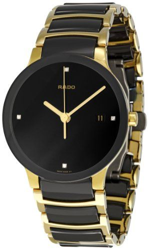 575ea54d5 Rado Men's R30929712 Centrix Jubile Gold Plated Stainless Steel Bracelet Watch  Rado