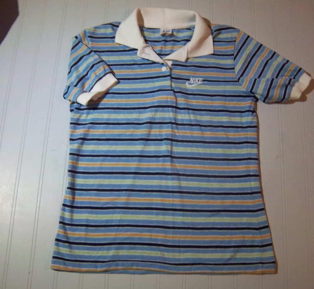 Super cute nike polo shirt womens medium 80s true vintage for Cute polo shirts for women