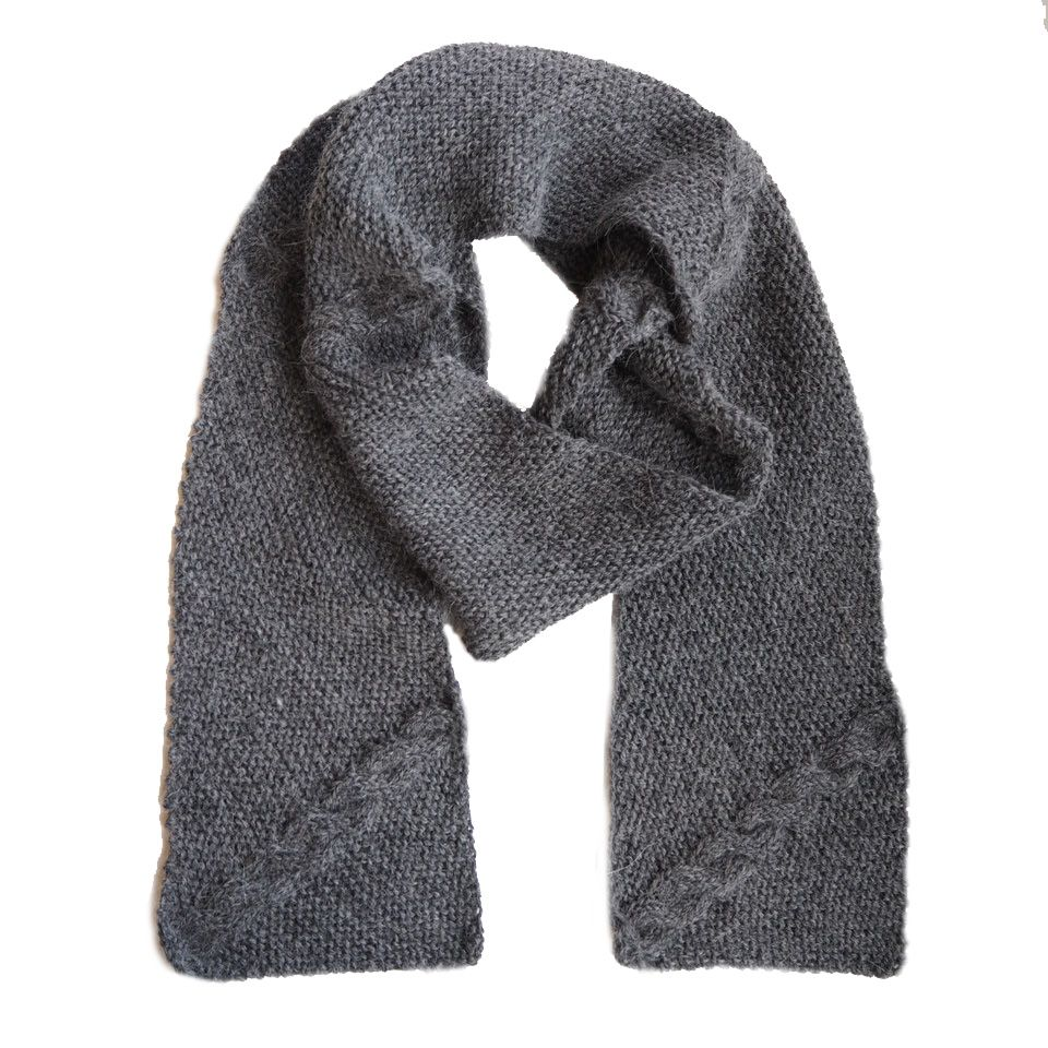 4889b33f957 Palmikkoneulekaulaliina Novita Alpaca Wool