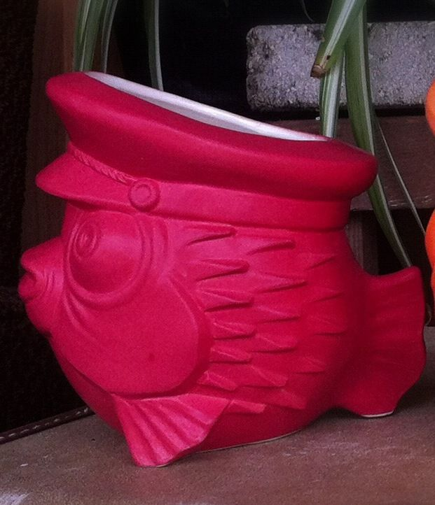 The Skipper Red Puffer Fish Tiki Mug