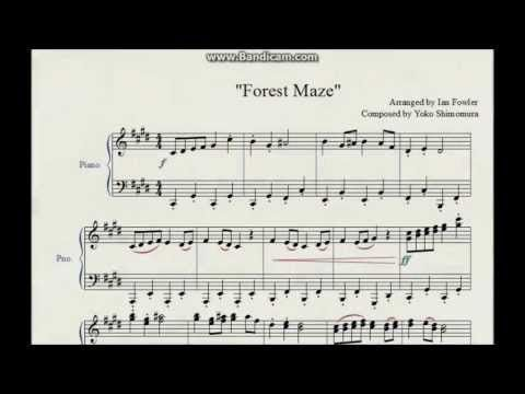 Forest maze super mario rpg piano arrangement w sheet for House music arrangement