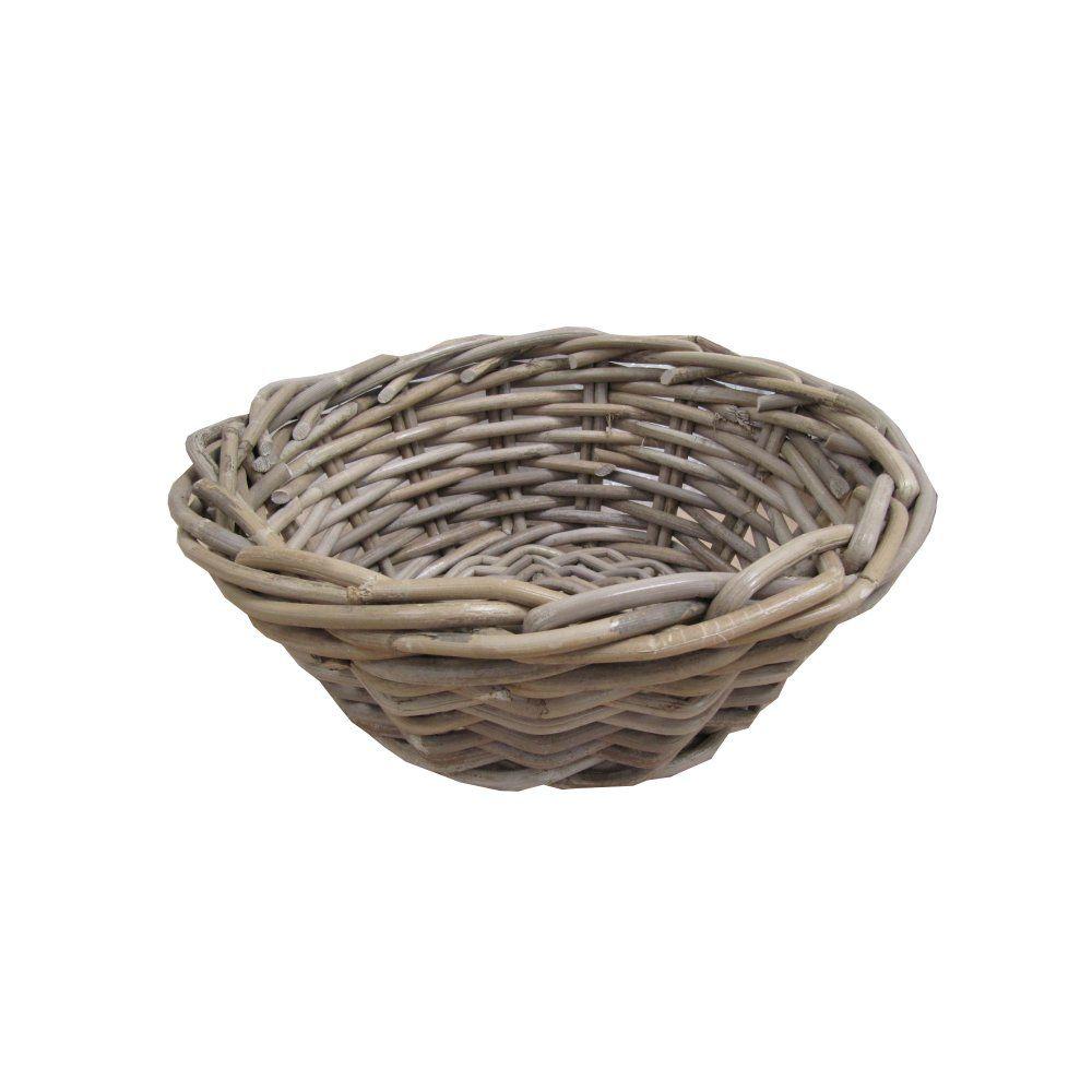 Wicker storage basket home storage baskets melbury rectangular wicker - Grey Buff Rattan Round Storage Baskets Empty Hamper Baskets